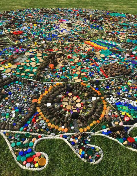Hellens Garden Festival Community Mandala June 2018
