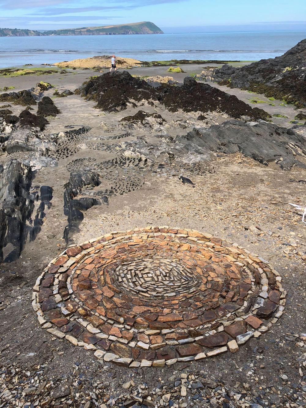 Stone Circle Drawing Newport Sands, Pembrokeshire, July 2018