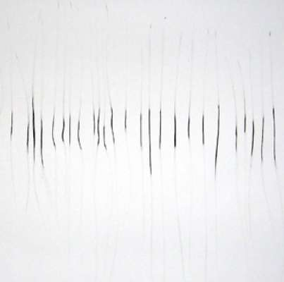 strokes (detail), private collection, London, charcoal on paper