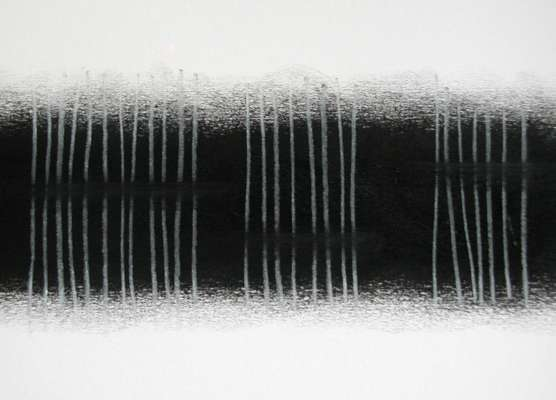 sound (detail), charcoal on paper